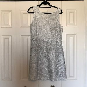 charming charlie's silver party dress